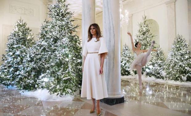 Melania Trump'ın yılbaşı hazırlığı